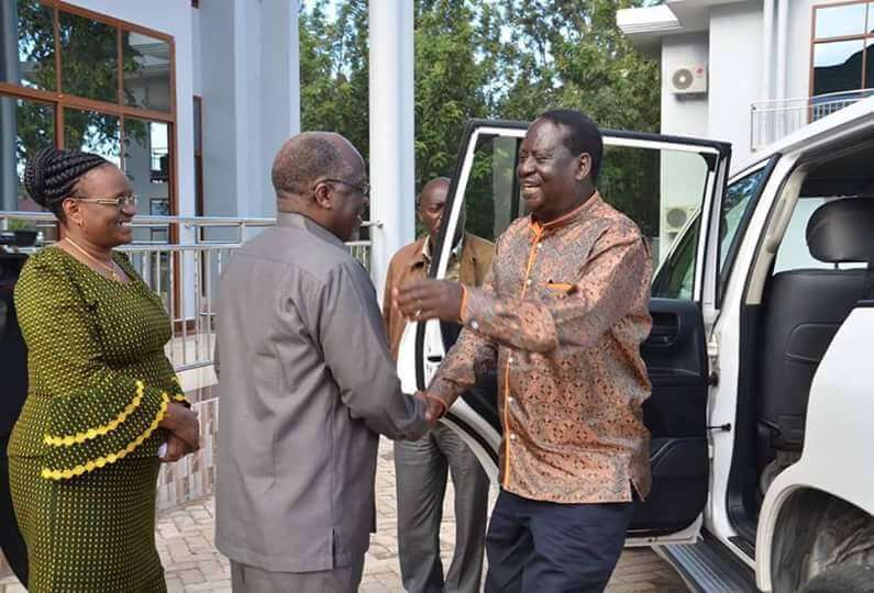 Image result for magufuli and raila odinga pictures