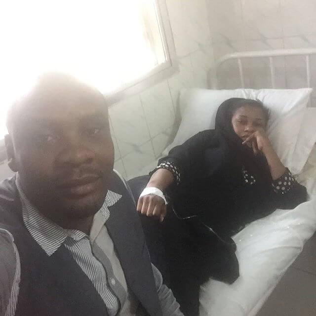 Babalevo akiwa na Shilole hospitali
